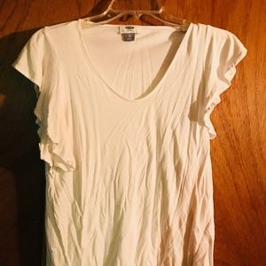 XS White Old Navy Blouse-Like New
